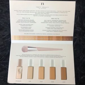 Fenty Beauty Makeup - PICK 5 FOR $20 Fenty Beauty by Rihanna Sample Card